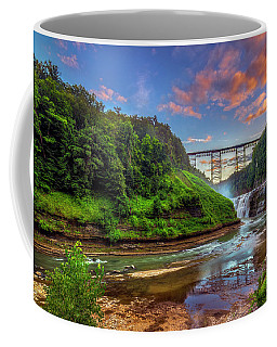 Upper Falls At Sunset Coffee Mug by Mark Papke