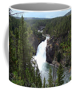 Coffee Mug featuring the photograph Upper Falls by Charles Robinson