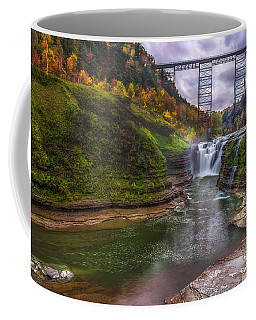 Upper Falls In Fall Coffee Mug