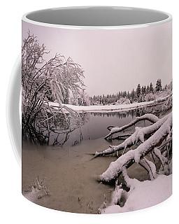 Upper Truckee Marsh Spring Snow Reflections Coffee Mug
