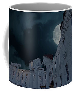 Upside Down White House At Night Coffee Mug