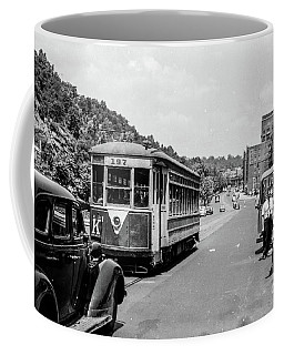Uptown Trolley Near 193rd Street Coffee Mug