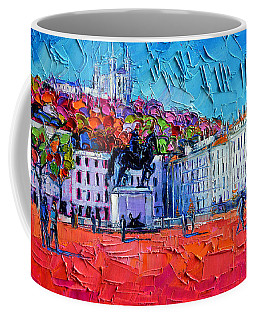 Urban Impression - Bellecour Square In Lyon France Coffee Mug