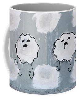 Coffee Mug featuring the photograph Urban Rain Clouds by Art Block Collections