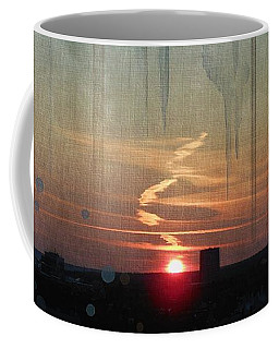 Coffee Mug featuring the painting Urban Sunrise by Ivana Westin