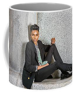 Coffee Mug featuring the photograph Urban Teenage Boy Fashion 15042648 by Alexander Image