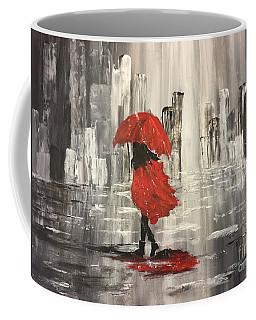 Urban Walk In The Rain Coffee Mug by Lucia Grilletto