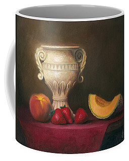 Coffee Mug featuring the painting Urn With Fruit by Joe Winkler