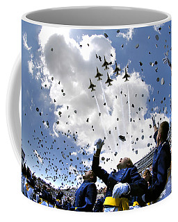 U.s. Air Force Academy Graduates Throw Coffee Mug