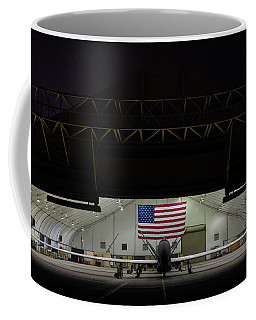 Us Air Force Eq 4 Global Hawk Assigned To The 380th Air Expeditionary Wing Await Routine Maintenance Coffee Mug