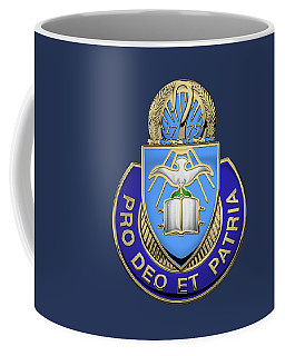 U. S. Army Chaplain Corps - Regimental Insignia Over Blue Velvet Coffee Mug