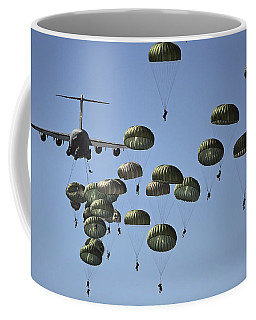 U.s. Army Paratroopers Jumping Coffee Mug