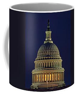 U.s. Capitol At Night Coffee Mug