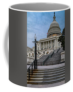 Coffee Mug featuring the photograph Us Capitol Building Twilight by Susan Candelario