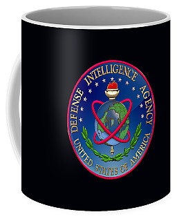U. S. Defense Intelligence Agency - D I A Emblem Over Flag Coffee Mug