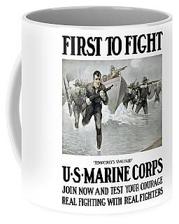 Us Marine Corps - First To Fight  Coffee Mug