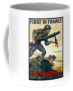 Us Marines - First In France Coffee Mug