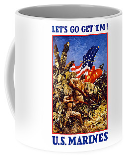 Us Marines - Ww2  Coffee Mug