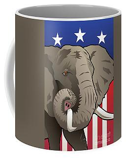 Usa Elephant Coffee Mug