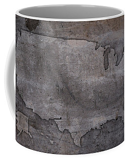 Usa Map Outline On Concrete Wall Slab Coffee Mug
