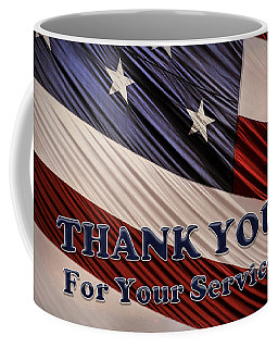 Usa Military Veterans Patriotic Flag Thank You Coffee Mug
