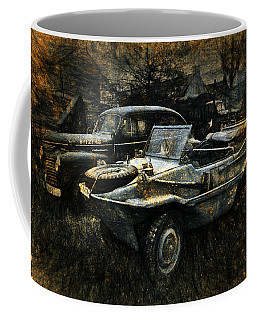 Coffee Mug featuring the digital art Usa Remains Of The War by Karo Evans