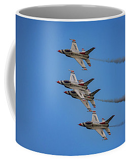 Coffee Mug featuring the photograph Usaf Thunderbirds by Rick Berk