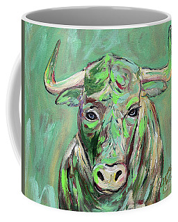 Coffee Mug featuring the painting Usf Bull by Jeanne Forsythe