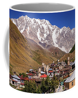 Ushguli And  Shkhara Mount Coffee Mug by Sergey Simanovsky