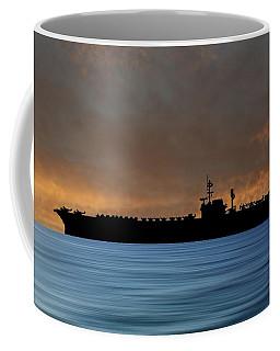 Uss Kitty Hawk 1955 V3 Coffee Mug