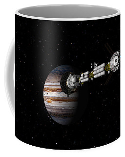 Uss Savannah Approaching Jupiter Coffee Mug
