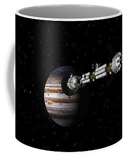 Uss Savannah Approaching Jupiter Coffee Mug by David Robinson