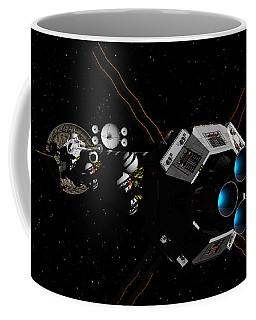 Uss Savannah In Deep Space Coffee Mug