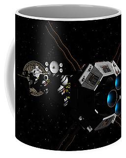 Uss Savannah In Deep Space Coffee Mug by David Robinson