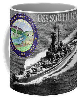Uss South Dakota Coffee Mug by JC Findley