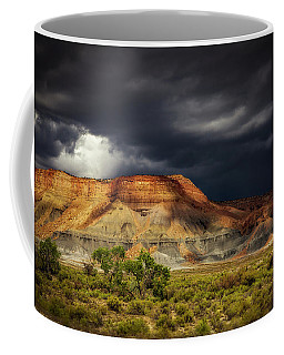 Utah Mountain With Storm Clouds Coffee Mug