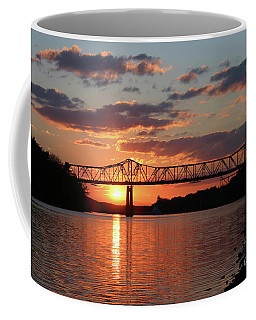 Utica Bridge At Sunset Coffee Mug