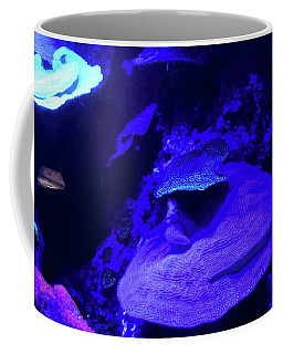 Coffee Mug featuring the photograph Uw Neon Coral by Francesca Mackenney