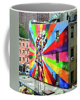 V - J Day Mural By Eduardo Kobra # 2 Coffee Mug