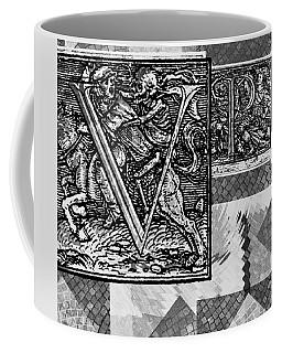 Coffee Mug featuring the mixed media V P P N  by Sir Josef - Social Critic - ART