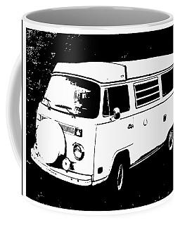 V W Campervan Black And White Coffee Mug