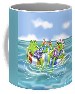Vacation Happy Frog Couple Coffee Mug