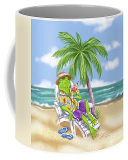 Vacation Relaxing Frog Coffee Mug