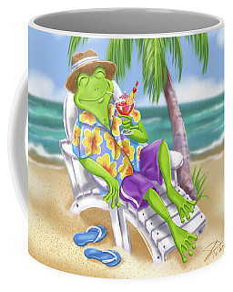 Vacation Relaxing Frog Coffee Mug