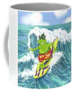 Vacation Surfing Frog Coffee Mug