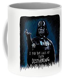 Coffee Mug featuring the digital art Vader by Antonio Romero