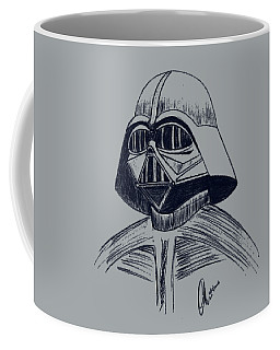 Vader Sketch Coffee Mug by Chris Thomas