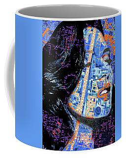 Coffee Mug featuring the mixed media Vain by Tony Rubino