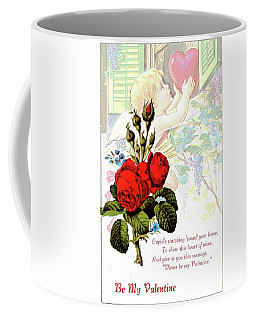 Valentine And Roses Coffee Mug by Janette Boyd