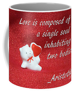 Coffee Mug featuring the photograph Valentine By Aristotle by Linda Phelps
